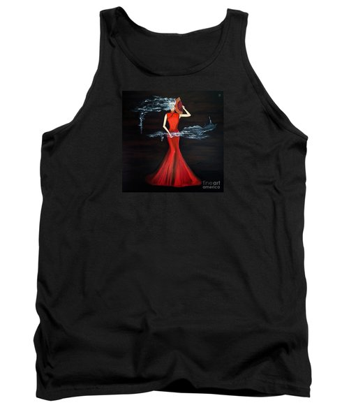 Scented Red Color Tank Top by Fei A