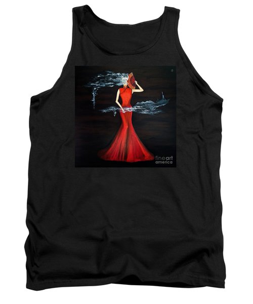 Scented Red Color Tank Top