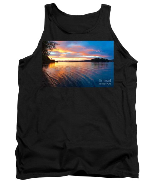 Red Sky At Night Tank Top by Sean Griffin