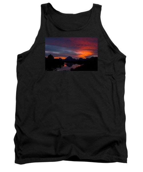 Red Sky At Oxbow Tank Top