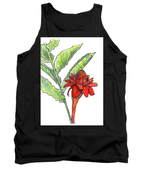 Red Torch Ginger Tank Top