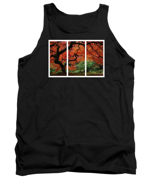 Red Tree Tank Top by James Roemmling