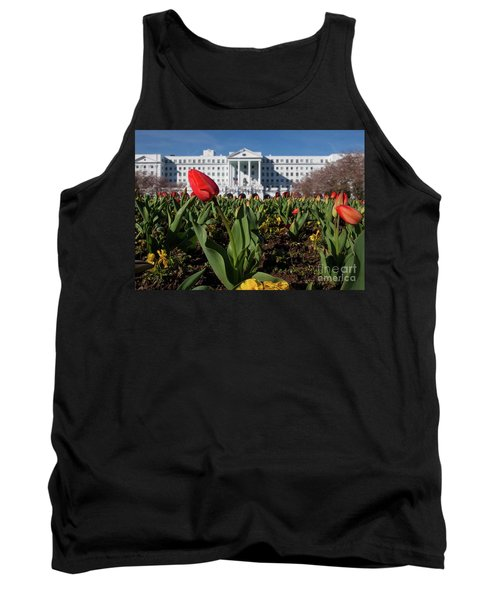 Red Tulip At The Greenbrier Tank Top by Laurinda Bowling
