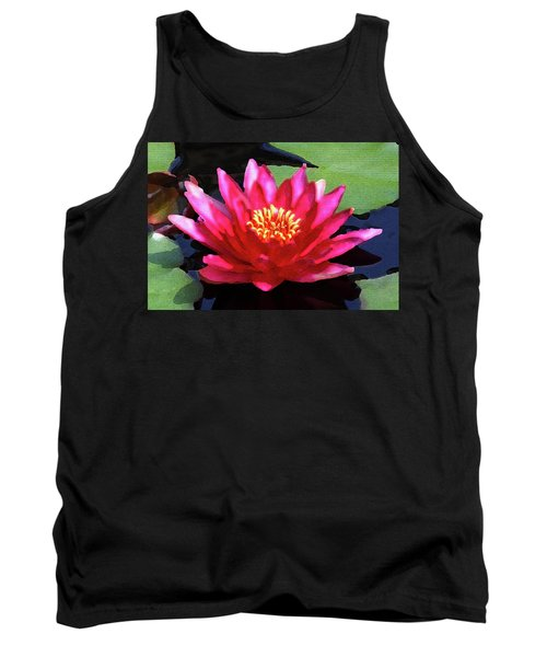 Red Water Lily - Palette Knife Tank Top