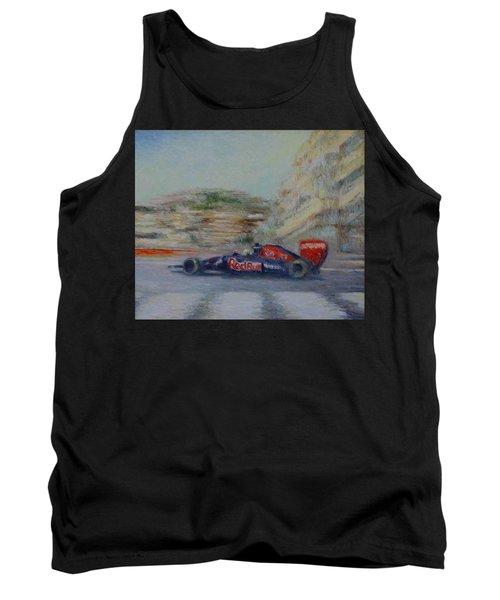 Redbull Racing Car Monaco  Tank Top