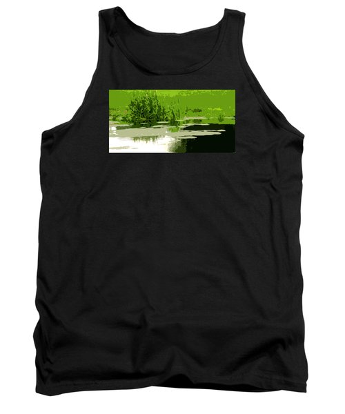 Tank Top featuring the photograph Reeds At The  Pond by Spyder Webb