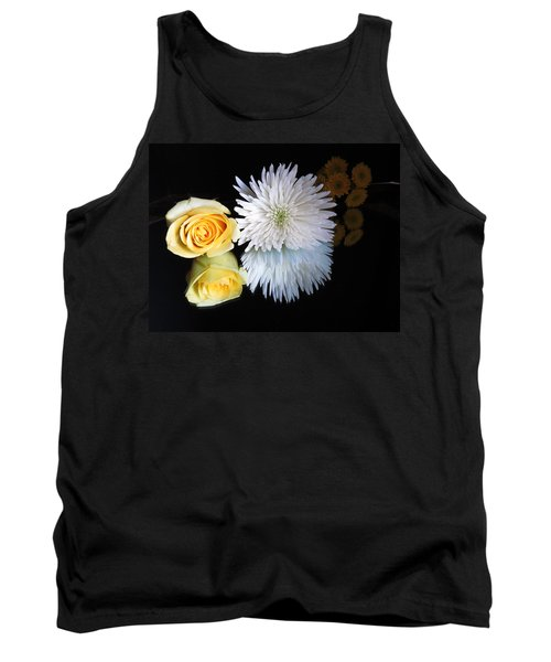 reflected Flowers Tank Top