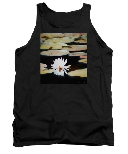 Tank Top featuring the painting Reflection Pond by Debra     Vatalaro