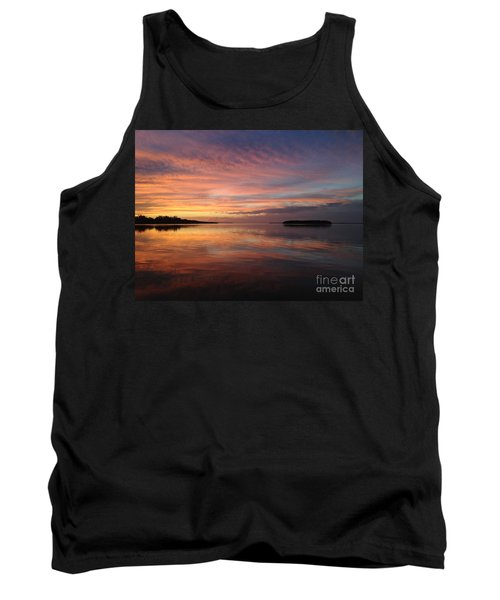 Reflections At Sunset In Key Largo Tank Top