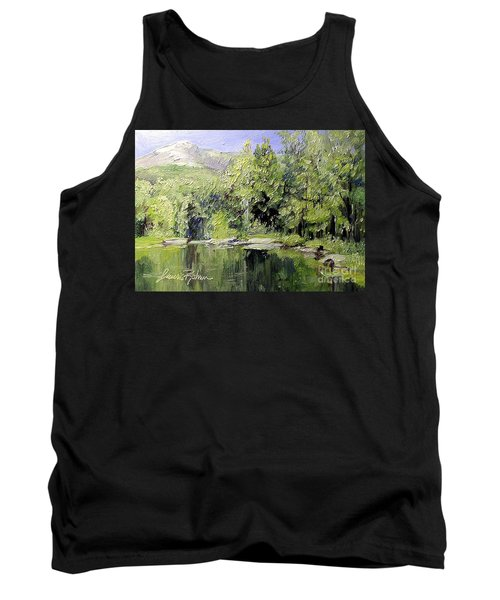 Tank Top featuring the painting Reflections by Laurie Rohner