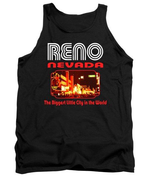 Reno Nevada - Tshirt Design Tank Top by Art America Gallery Peter Potter