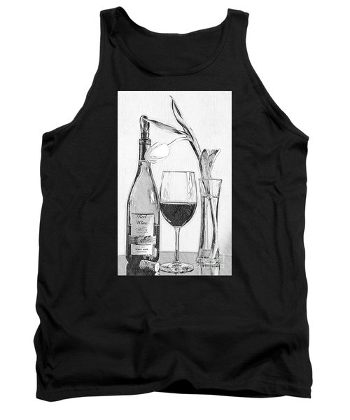 Reserved Table For One In Black And White Tank Top