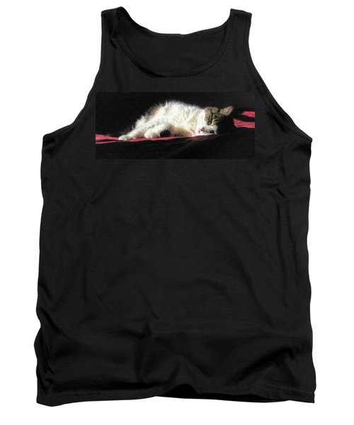 Tank Top featuring the painting Resting Cat by Maciek Froncisz