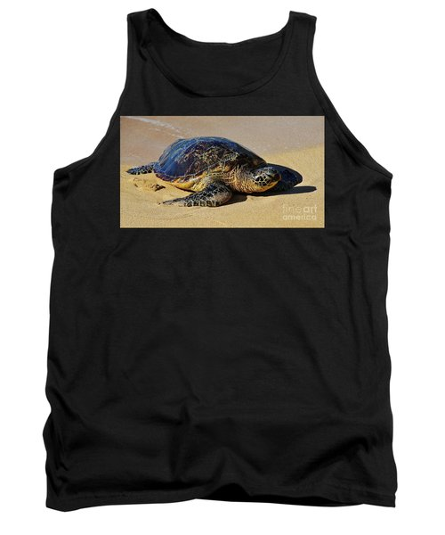 Tank Top featuring the photograph Resting Sea Turtle by Craig Wood