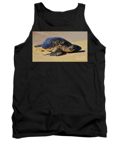 Resting Sea Turtle Tank Top