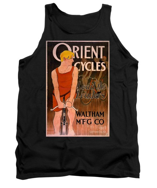 Tank Top featuring the photograph Retro Bicycle Ad 1890 by Padre Art