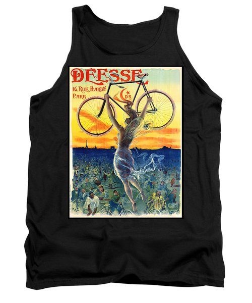 Tank Top featuring the photograph Retro Bicycle Ad 1898 by Padre Art