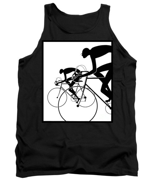 Tank Top featuring the photograph Retro Bicycle Silhouettes 2 1986 by Padre Art