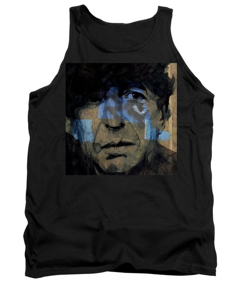 Tank Top featuring the painting Retro- Famous Blue Raincoat  by Paul Lovering