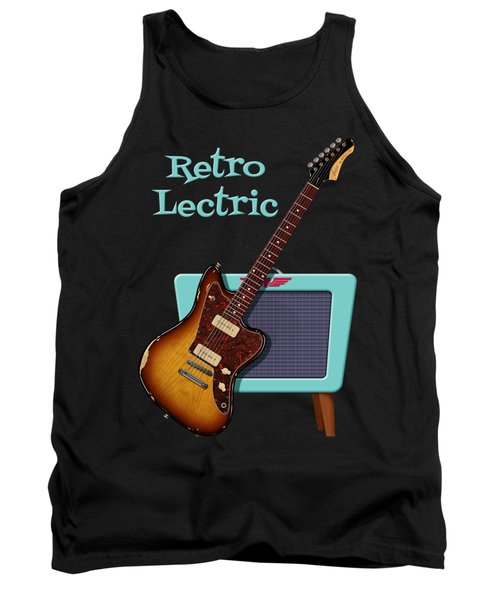 Tank Top featuring the digital art Retro Lectric by WB Johnston