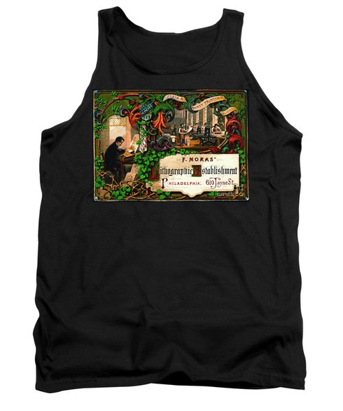 Tank Top featuring the photograph Retro Printing Ad 1867 by Padre Art