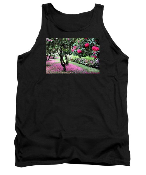 Rhododendrons Blooming Villa Carlotta Italy Tank Top by Tanya Searcy