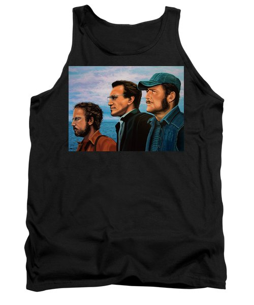 Jaws With Richard Dreyfuss, Roy Scheider And Robert Shaw Tank Top by Paul Meijering