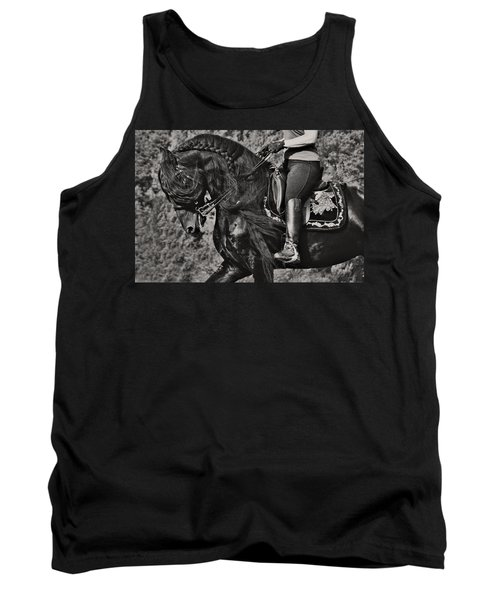Tank Top featuring the photograph Rider And Steed Dance D6032 by Wes and Dotty Weber
