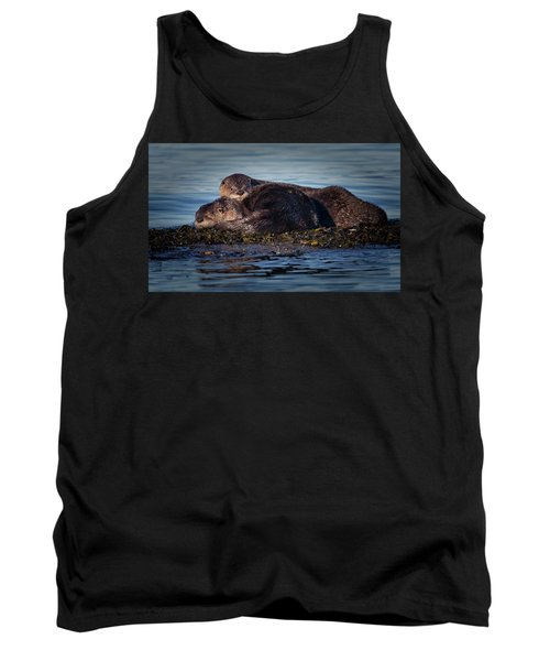 River Otters Tank Top by Randy Hall