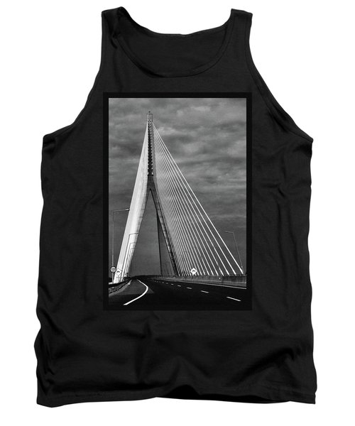 Tank Top featuring the photograph River Suir Bridge. by Terence Davis