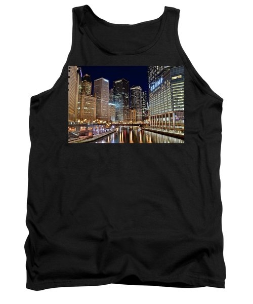 River View Of The Windy City Tank Top by Frozen in Time Fine Art Photography