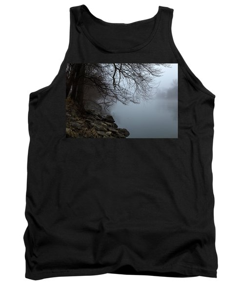 Riverbank In The Fog Tank Top