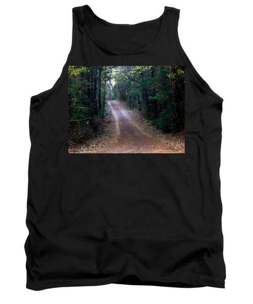 Tank Top featuring the photograph Road Not Taken by Betty Northcutt