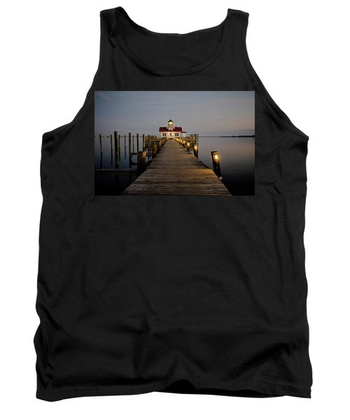 Roanoke Marshes Lighthouse Tank Top by David Sutton