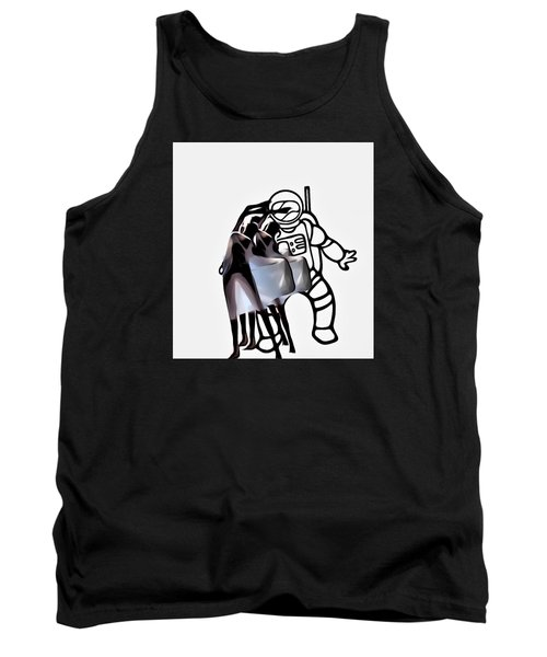 Robot In Love Tank Top by Lisa Piper