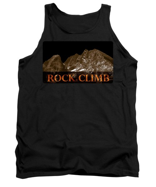 Tank Top featuring the photograph Rock And Climb by Frank Tschakert