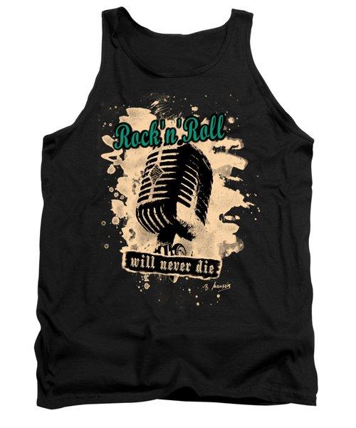 Rock-n-roll Microphone  Tank Top