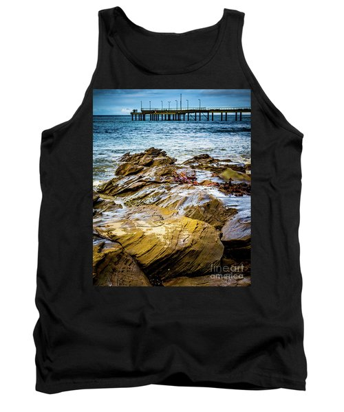 Tank Top featuring the photograph Rock Pier by Perry Webster