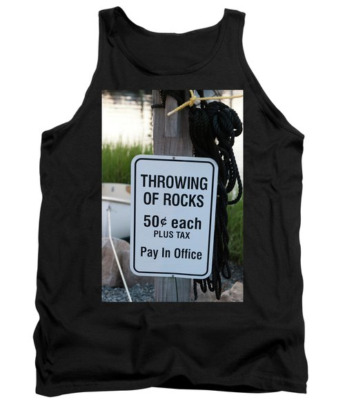 Rock Throwing Charge Tank Top