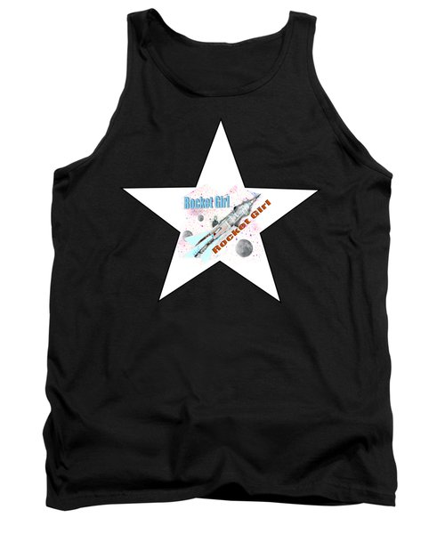 Rocket Girl With Star Tank Top by Tom Conway