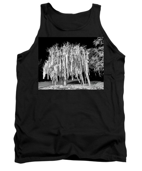 Rolled Tree Blk N White Tank Top