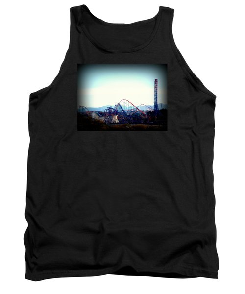 Roller Coasters At Twilight Tank Top