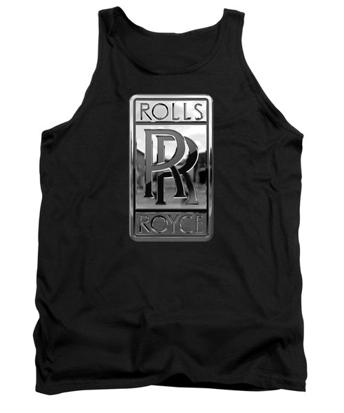 Rolls Royce - 3d Badge On Black Tank Top by Serge Averbukh