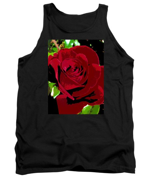 Rose Bloom Tank Top by Matthew Bamberg