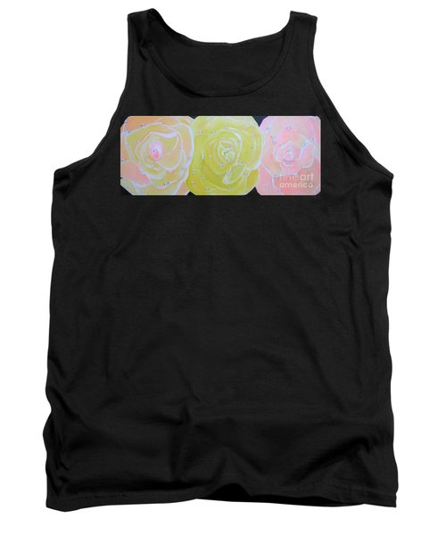 Rose Medley With Dewdrops Tank Top