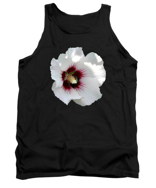 Rose Of Sharon Flower And Bumble Bee Tank Top by Rose Santuci-Sofranko