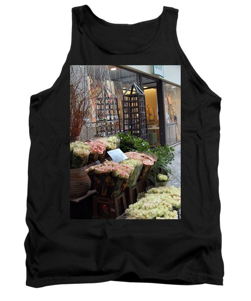 Rose Stand Tank Top by Catherine Alfidi