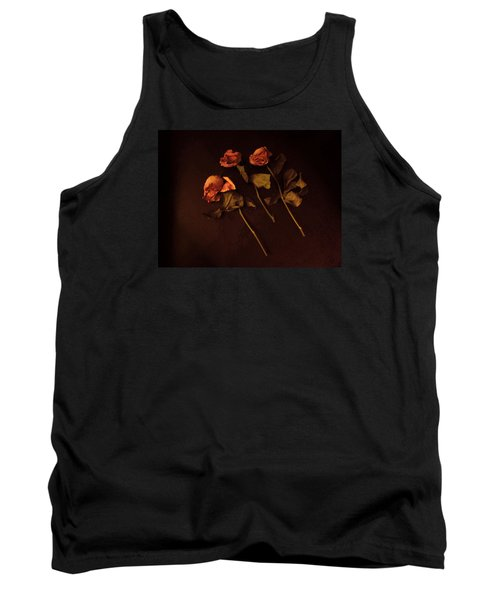 Roses In Amber Light Tank Top by Cedric Hampton