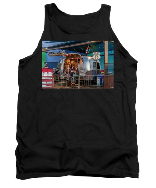Route 66 And Airstream On Tha Pier Tank Top