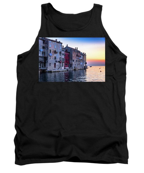 Rovinj Old Town On The Adriatic At Sunset Tank Top